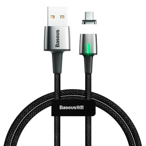 Baseus Zinc Magnetic Cable USB For Type-C 3A 1m Black