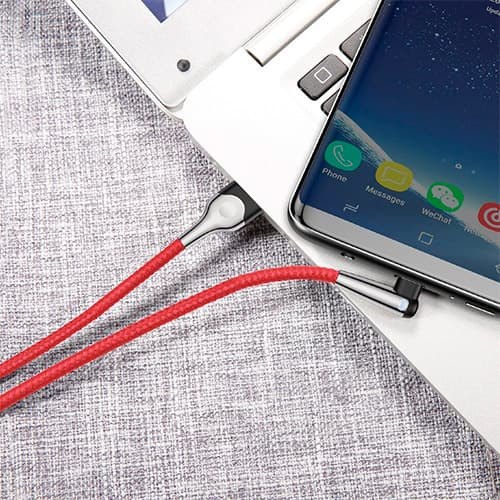 Baseus sharp-bird mobile game cable USB For Type-C 3A 1M Red
