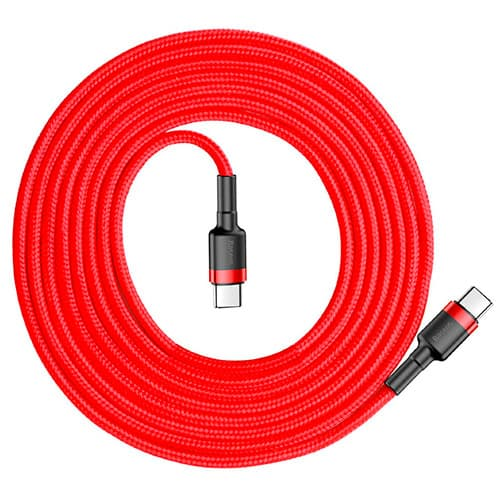 Baseus Cafule Series Type-C PD2.0 60W Flash charge Cable (20V 3A) 2M Red