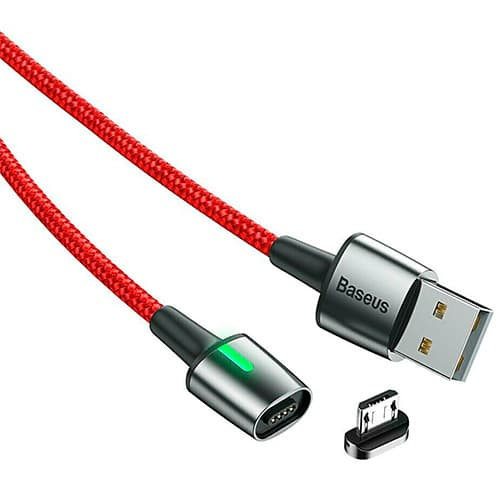 Baseus Zinc Magnetic Cable USB For Micro 2.4A 1m Red