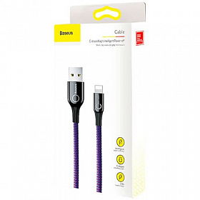 Baseus C-shaped Light Intelligent power-off Cable 1M Purple