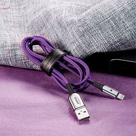Baseus X-type Light Cable For Lightning 2.4A 1M Purple